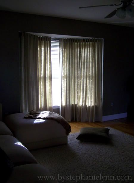 Under The Table and Dreaming: Make Your Own Bay Window Curtain Rod {Window Treatments for our Bay Windows}