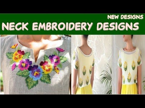 New shirt neck Embroidery Designs || Brand New|| Beautiful Classic Embroidery Designs Of 207 - YouTube