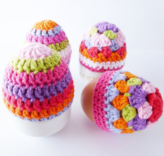 PDF Crochet Patterns Egg Cosies - English and Dutch version available