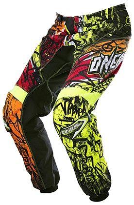 Oneal Adult 2017 Element Vandal Mx Atv Pants Size 5 6 38 Motocross Pants Motocross Black Neon