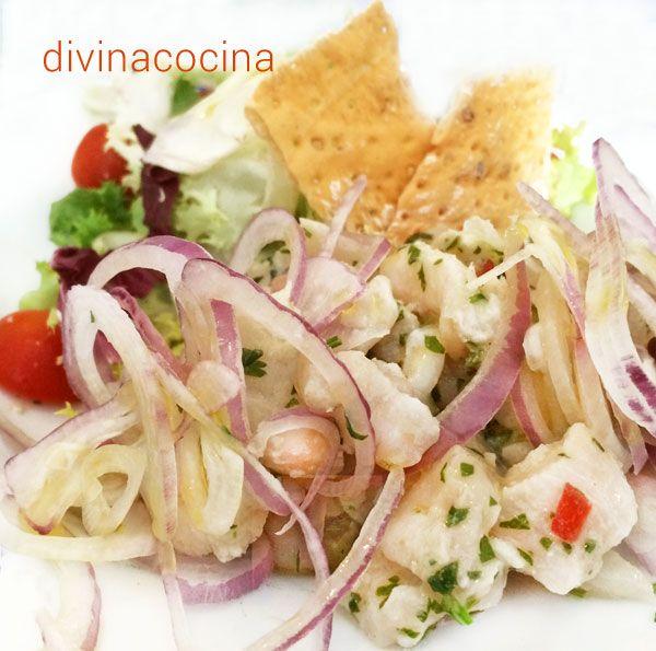 Esta receta de ceviche de pescado es la más elemental, con los ingredientes sencillos que podemos encontrar en un supermercado.