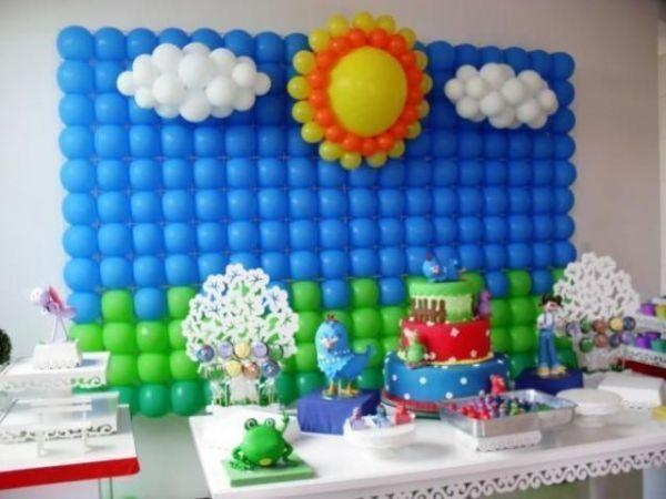 Ideias para decoração infantil: painel de balões. http://www.seuevento.net.br/uberlandia/artigos-e-dicas/18/10/2013/ideias-para-decoracao-infantil-painel-de-baloes/
