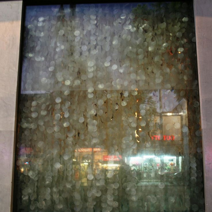 Capiz shell rainfall as window treatment for custom order for Capiz window