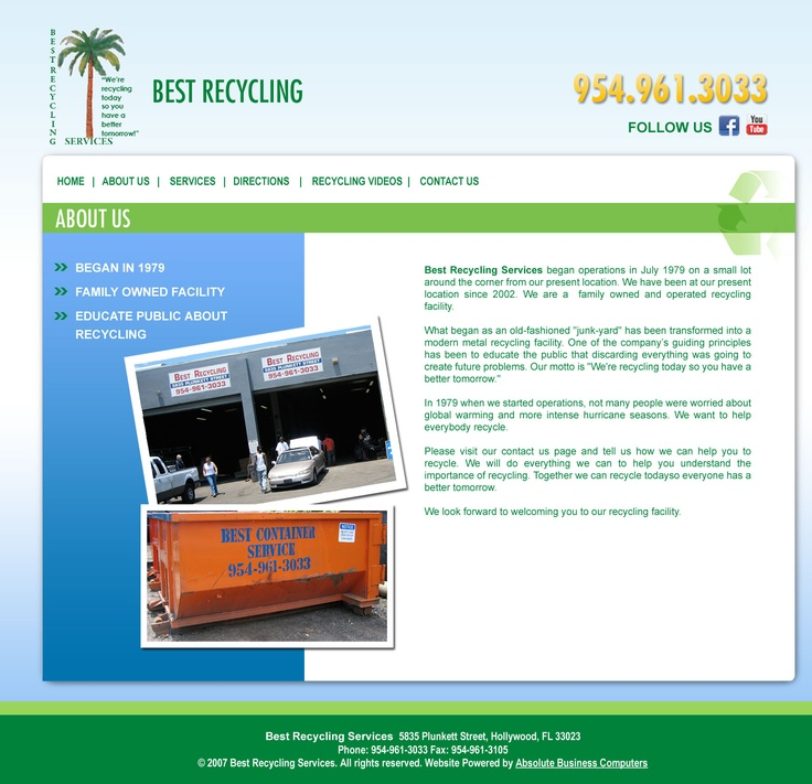 About Page for Best Recycling