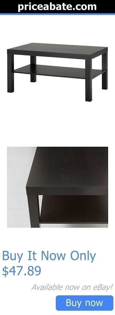 furniture: Coffee Table Lack Side End Black Brown Tv Stand Laptop Ikea Living Bed Game Room BUY IT NOW ONLY: $47.89 #priceabatefurniture OR #priceabate