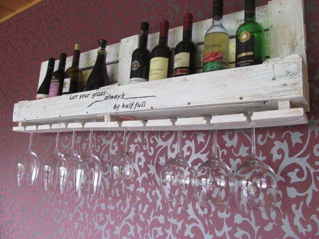 Weinregale - *** Weinregal aus  Industriepalette weiß shabby*** - ein Designerstück von La--Maison bei DaWanda
