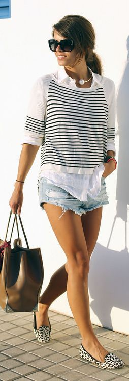 Street style | Casual spring fashion  I like the idea of this outfit more than the actual pieces shown. -C