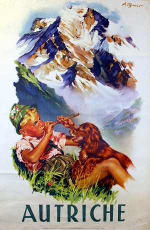 Austria, 1930s travel poster