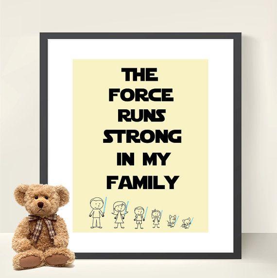 11 best STAR WARS FAMILY images on Pinterest | Family wall art ...