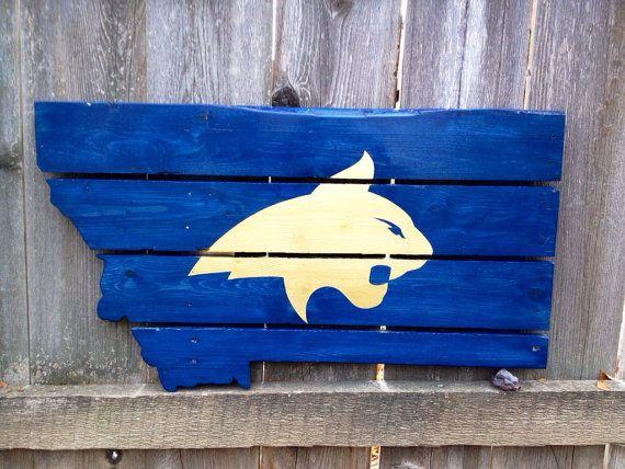Recycled Pallet Montana State University on Etsy, $100.00