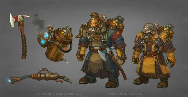 Allods: Flamethrower Orks by Sokil-Su on deviantART