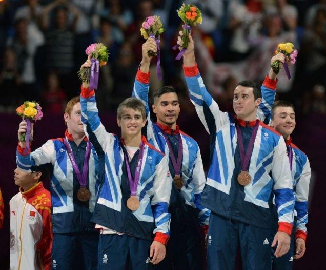 Daniel Purvis, Max Whitlock, Louis Smith, Kristian Thomas and Sam Oldham. Team GB Gymnastics  - bronze