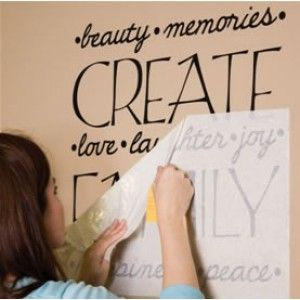 GREAT website for customized vinyl lettering for walls, windows, cars.. and VERY affordable!!