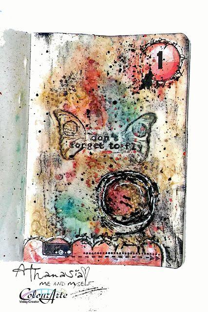 Me and myself...: mini art journal - page 1