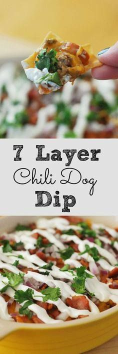 7 Layer Chili Dog Di 7 Layer Chili Dog Dip - serve this at your...  7 Layer Chili Dog Di 7 Layer Chili Dog Dip - serve this at your next football party! Its always a crowd pleaser! Recipe : http://ift.tt/1hGiZgA And @ItsNutella  http://ift.tt/2v8iUYW