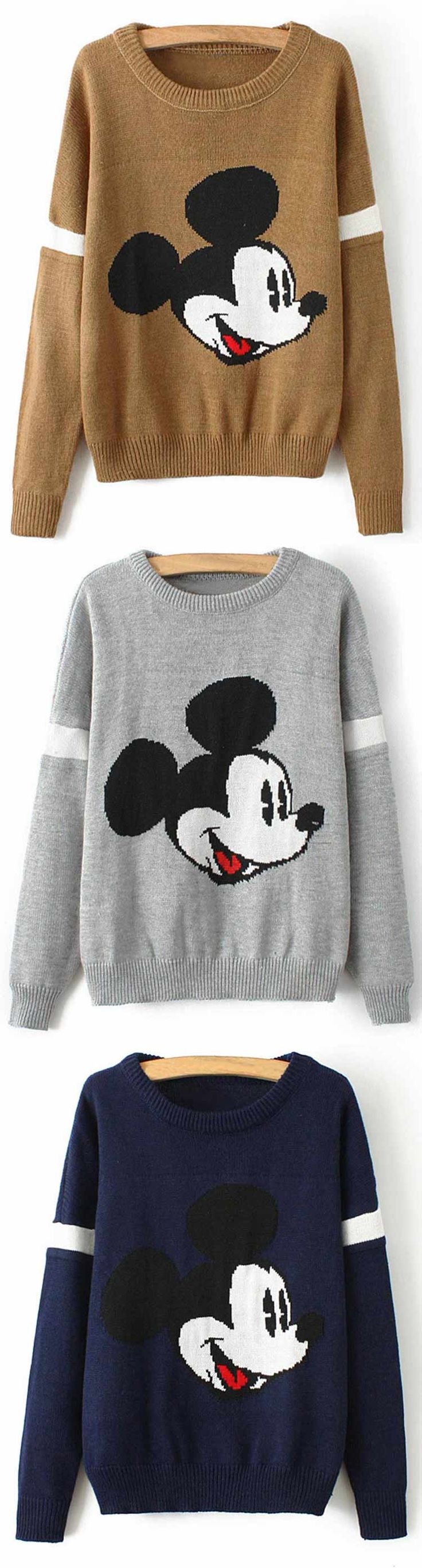 Mickey is here, Only $17.99 & One Week Shipping Time! Don't worry about rainy cold day anymore. It's time for you to bring it into wardrobe! Keep you warm all the fall at Cupshe.com