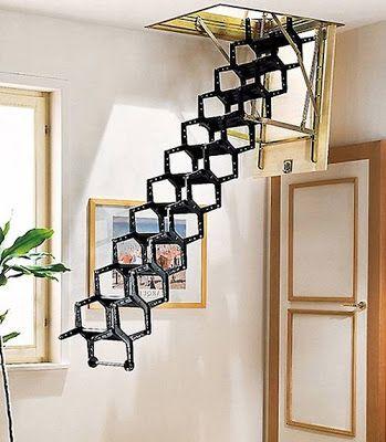 Escalera tijera plegable metálica