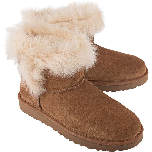ea5a2053b3b UGG Milla Fur Chestnut // Shearling boots ($255) ❤ liked on ...