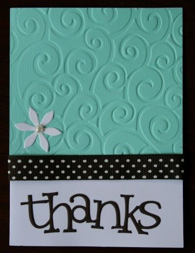 You could also punch out the white star to show the background for a different layered look.  Thank-you card - I could use the divine swirls embossing folder, small flower punch, ribbon, & cricut for cutting out | http://cutegreetingcards.blogspot.com