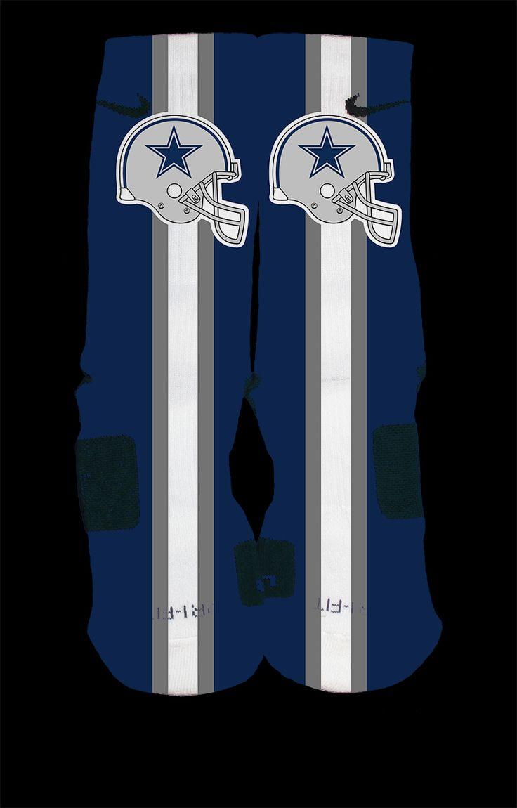 423 best how bout dem cowboys images on pinterest cowboy dallas cowboys inspired custom nike elite socks each pair is custom created when you order