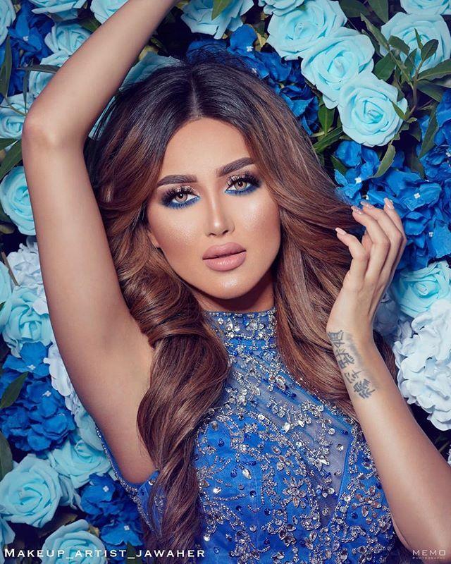 Image May Contain 1 Person Blue Dress Makeup Brunette Beauty Dress Makeup
