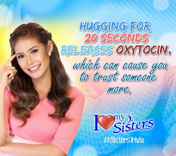 hugging someone is good for you! 😉😍💑 #SistersPH #ILoveMySisters #StandProud #WeAreOneWeAreSisters #SistersTrivia