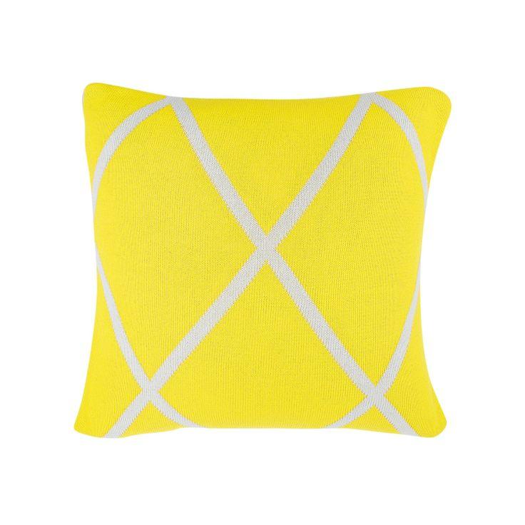 Aura Yellow Diamond Cushion from Domayne Online