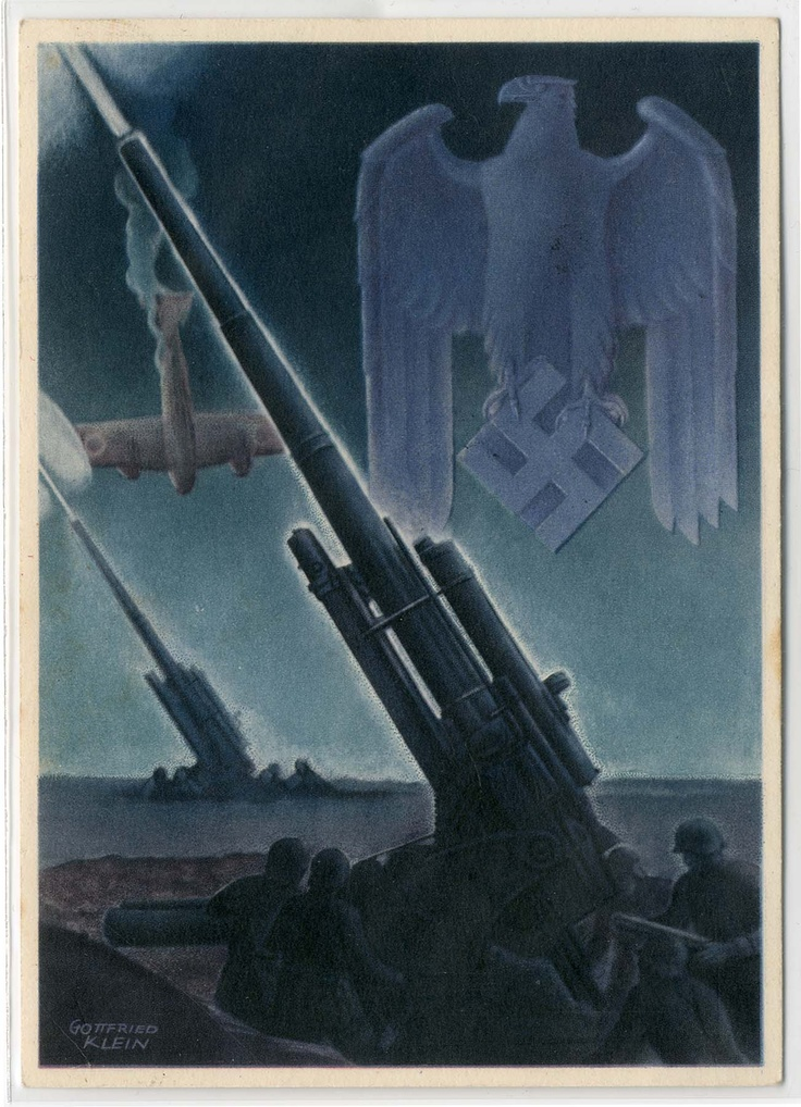 German  WW2 Propaganda Poster. As disturbing and ominous as the regime it represented, this image also embodies the regime's mastery of design.