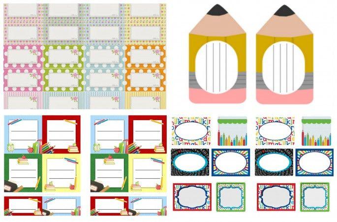 Organize sem Frescuras   Rafaela Oliveira » Arquivos » Etiquetas escolares fofas e divertidas para imprimir