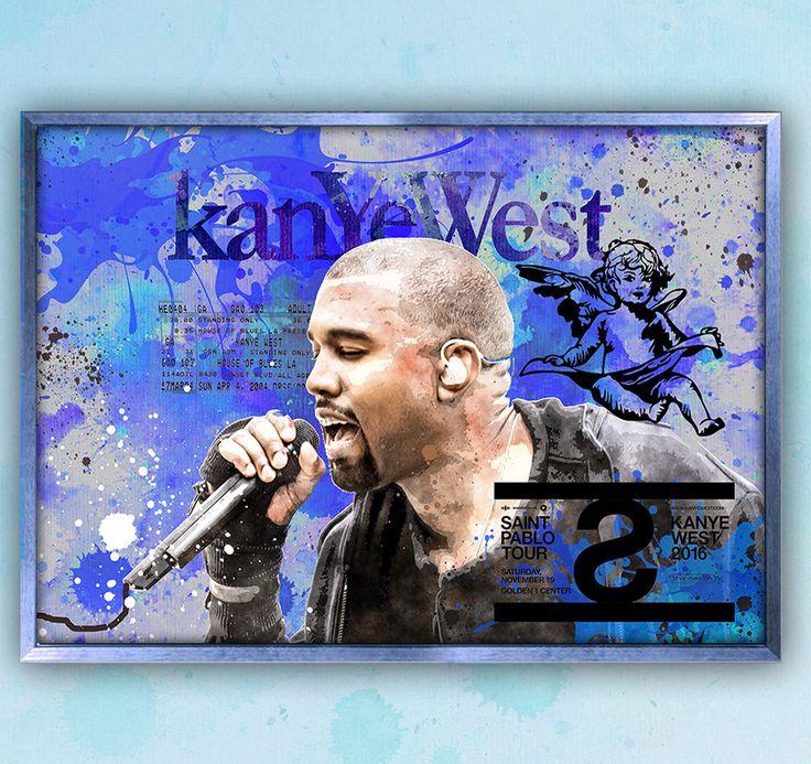 Kanye West, Kanye West Poster, Kanye West Art, Gifts for Musicians, Song Lyrics  Music Art, Gift for Musicians, Room Decor, Rapper, Yeezus by MusicSongsAndLyrics on Etsy