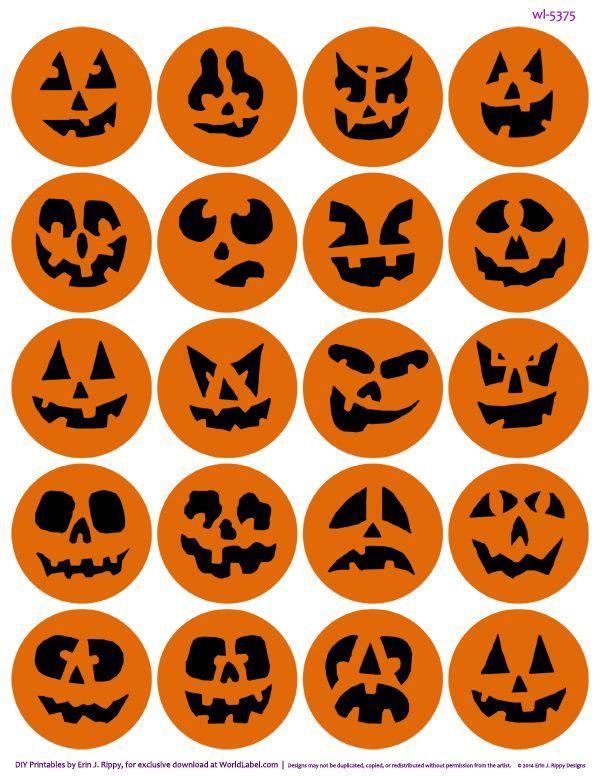 Pumpkin stickers and other printables on blog.worldlabel.com