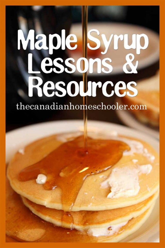 maple syrup lessons and resources