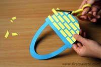Easter basket weaving-paper