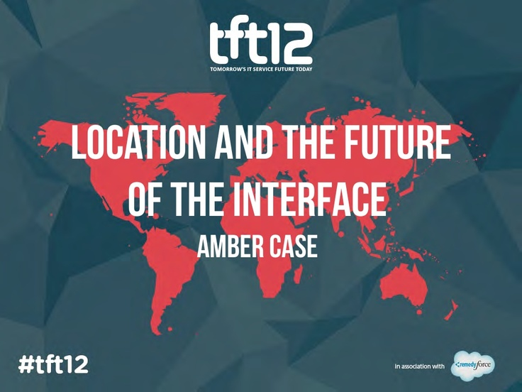 Presentation slides: Location and the future of the interface