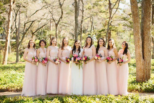 17 Best Ideas About Light Pink Bridesmaids On Pinterest