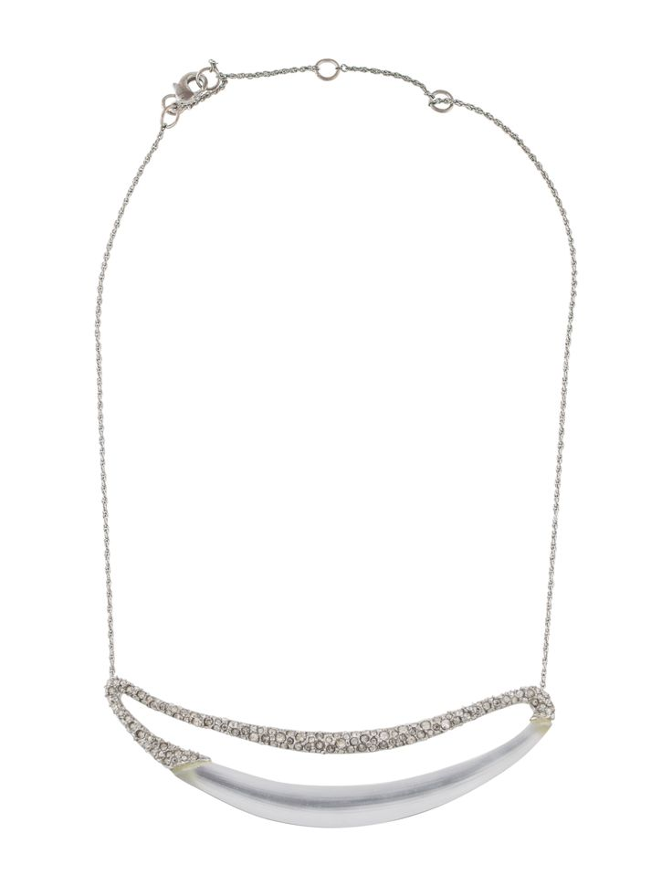 Silver-tone Alexis Bittar pendant necklace featuring a