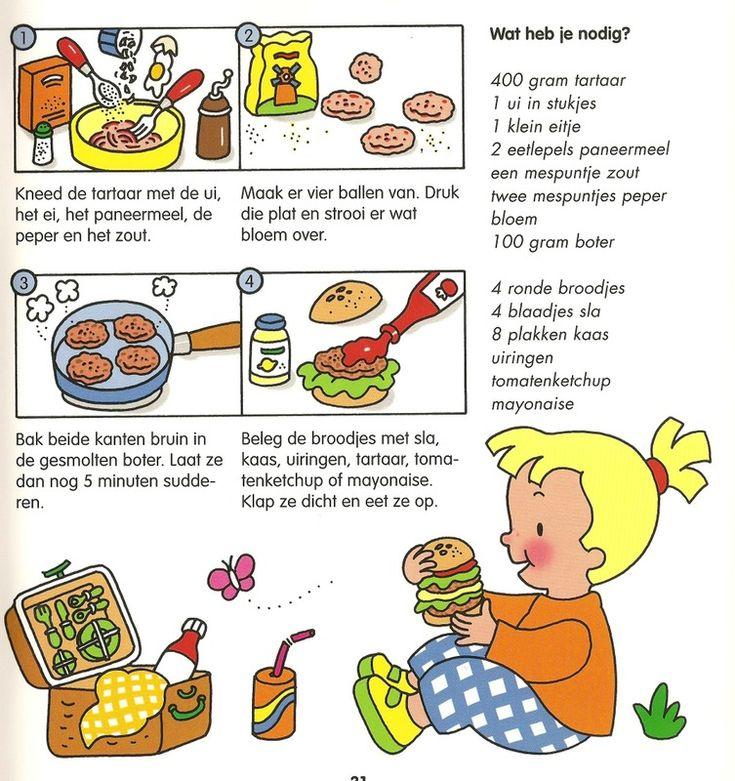 Hamburgers maken.