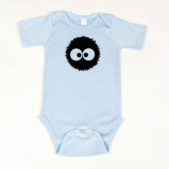 Soot Sprite bodysuit anime onesie by geeklingdesigns on Etsy, $18.00