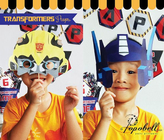 ♥ ♥ ♥ DIY PARTY PRINTABLES -TRANSFORMERS PARTY PROPS ♥ ♥ ♥ Print, cut and spice up your events. Have a great moments and enjoy the party with your