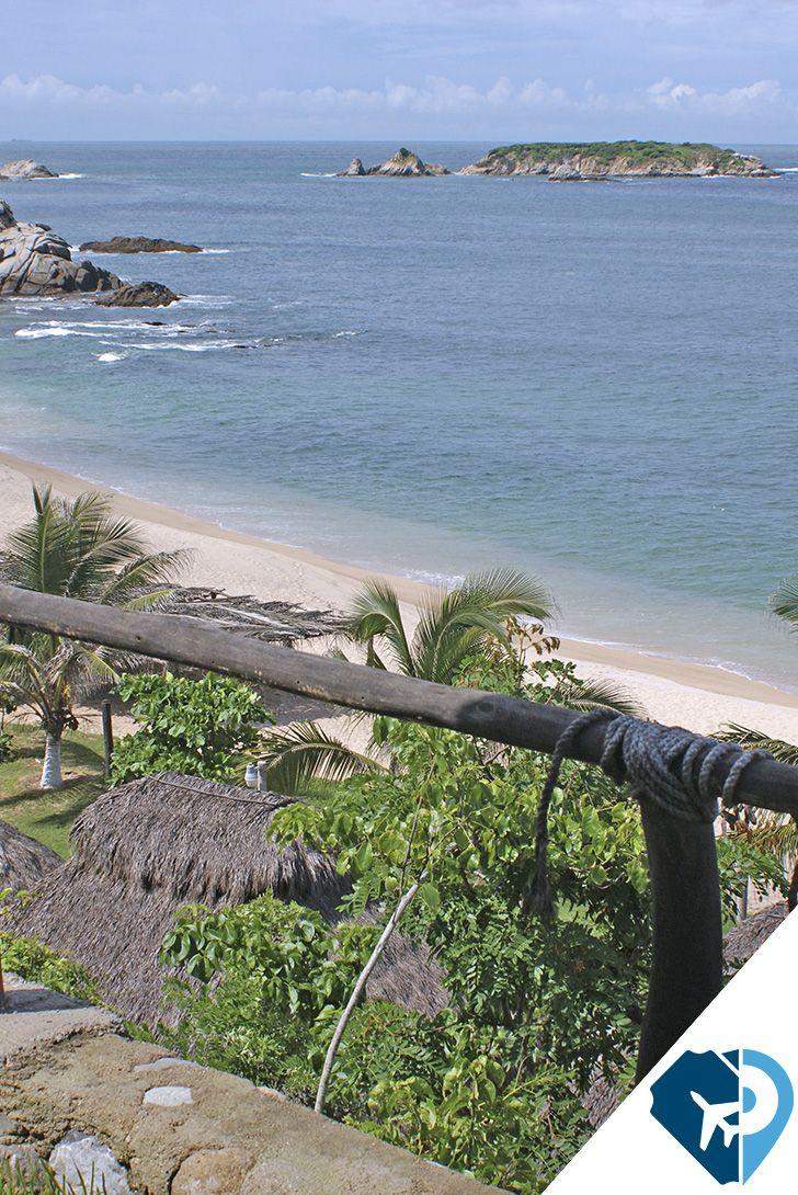 Palma Sola, Michoacan. Encantadora y tranquila, una playa ideal para realizar recorridos en lancha, donde podrás observar una gran variedad de fauna y flora, y por supuesto, nadar y pescar. Desde el risco podrá observar toda la costa. Cuenta con cabañas y zona de acampado.