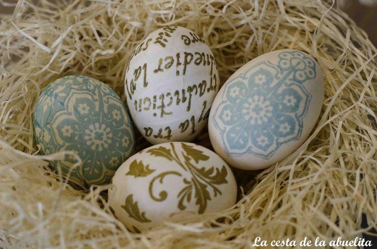Huevos de Pascua. www.lacestadelaabuelita.com
