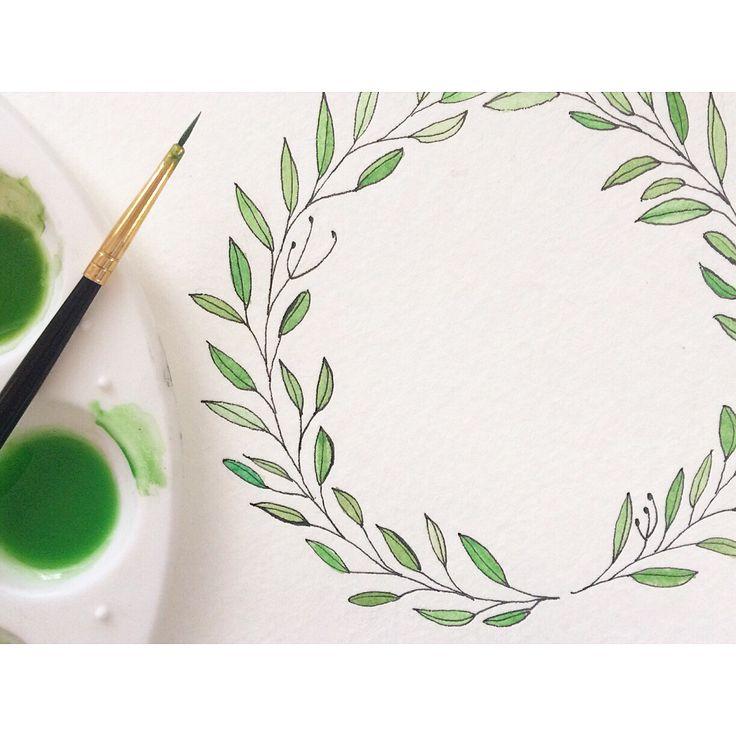Wedding invitation watercolor illustration // www.everlycalligraphy.com