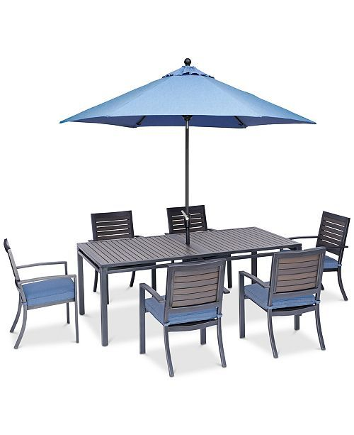Pleasing Harlough Ii 7 Pc Outdoor Dining Set 84 X 42 Dining Table Download Free Architecture Designs Rallybritishbridgeorg