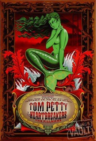 Tom Petty & the Heartbreakers Poster, Fillmore Auditorium (San Francisco, CA) Jan 19, 1997