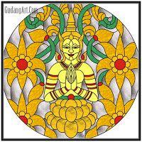 kaca patri - kaca patri thailand style stained glass Circle
