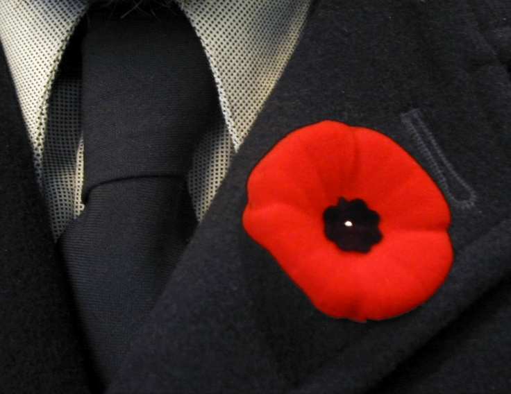 The week before Remembrance Day and on the day Canadians wear a poppy in support of the veterans.