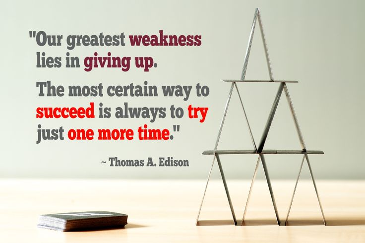 """Our greatest weakness lies in giving up..."" #quote #motivation #try #success"