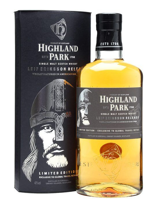 Highland Park Leif Eriksson : Buy Online - The Whisky Exchange - Originally released in March 2011, Leif Erikson was originally a travel retail exclusive that we've managed to get a few bottles of. In celebration of Erikson's trip to the New World it is made up ...