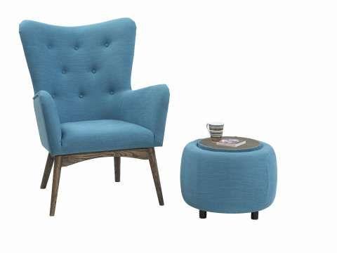 FINN – Blå retro-stol selges