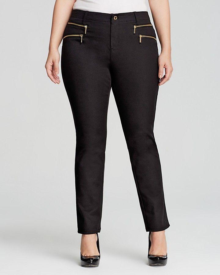 MICHAEL Michael Kors Plus Size Rocker Zip Pants
